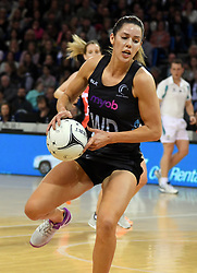 New Zealand's Kayla Cullen against England in the Taini Jamison Trophy netball series match at Te Rauparaha Arena, Porirua, New Zealand, Thursday, September 07, 2017. Credit:SNPA / Ross Setford  **NO ARCHIVING**