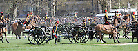 London, UK, 21 April 2010: The King's Troop Royal Horse Artillery performs a 41 Gun Royal Salute in Hyde Park on the Birthday of Her Majesty The Queen. For piQtured Sales contact: +44 (0) 7916262580 (Picture by Richard Goldschmidt/Piqtured)