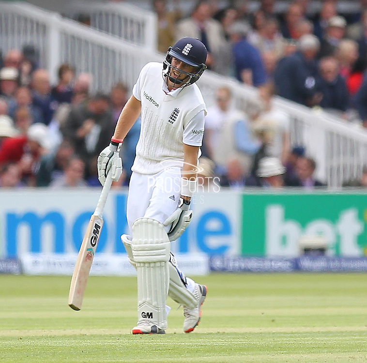 England Joe Root during the first day of the Investec 1st Test  match between England and New Zealand at Lord's Cricket Ground, St John's Wood, United Kingdom on 21 May 2015. Photo by Ellie  Hoad.