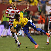 Neymar, Brazil, in action during the USA V Brazil International friendly soccer match at FedEx Field, Washington DC, USA. 30th May 2012. Photo Tim Clayton