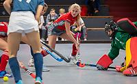 HAMBURG  (Ger) - Match 19,  for bronze , Der Club an der Alster (Ger) - Club Campo de Madrid (Esp)  Photo: Emily Wolbers (Alster)  Eurohockey Indoor  Club Cup 2019 Women . WORLDSPORTPICS COPYRIGHT  KOEN SUYK