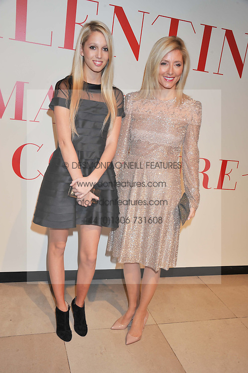 Left to right, PRINCESS MARIA OLYMPIA OF GREECE and her mother CROWN PRINCESS MARIE-CHANTAL OF GREECE at a private view of 'Valentino: Master Of Couture' at Somerset House, London on 28th November 2012.