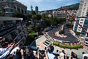 May 24-27, 2017: Monaco Grand Prix. Kimi Raikkonen (FIN), Scuderia Ferrari, SF70H leads the start of the Monaco Grand Prix with Sebastian Vettel behind