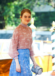 August 30, 2018 - Venice, Italy - Emma Stone is seen during the 75th Venice Film Festival, in Venice, Italy, on August 30, 2018. (Credit Image: © Matteo Chinellato/NurPhoto/ZUMA Press)