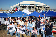 IRVING, TX - JANUARY 13: Cowboys fans get fired up while tailgating for the New York Giants NFC Divisional Playoff Game against the Dallas Cowboys at Texas Stadium on January 13, 2008 in Irving, Texas. ©Paul Anthony Spinelli