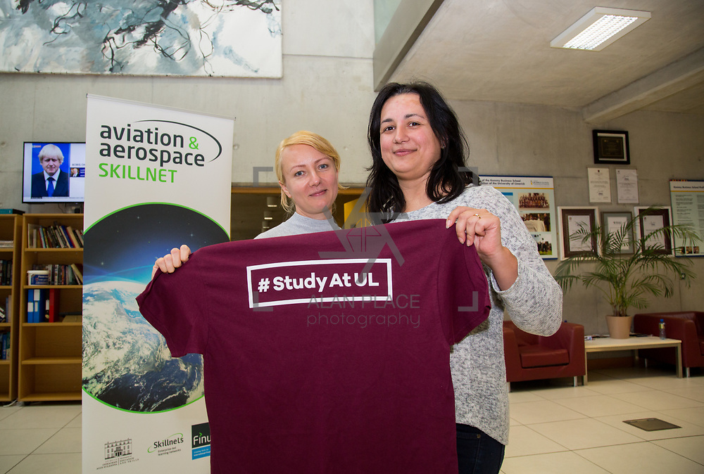 19.09.17.            <br /> Pictured at the Continued Airworthiness &amp; Maintenance Management (Level 9, Specialist Diploma), Kemmy Business School, University of Limerick were, Tatyana Yablokova, Part M Aviation and Taijana Ziedelmann, Lufthansa Technik. Picture: Alan Place