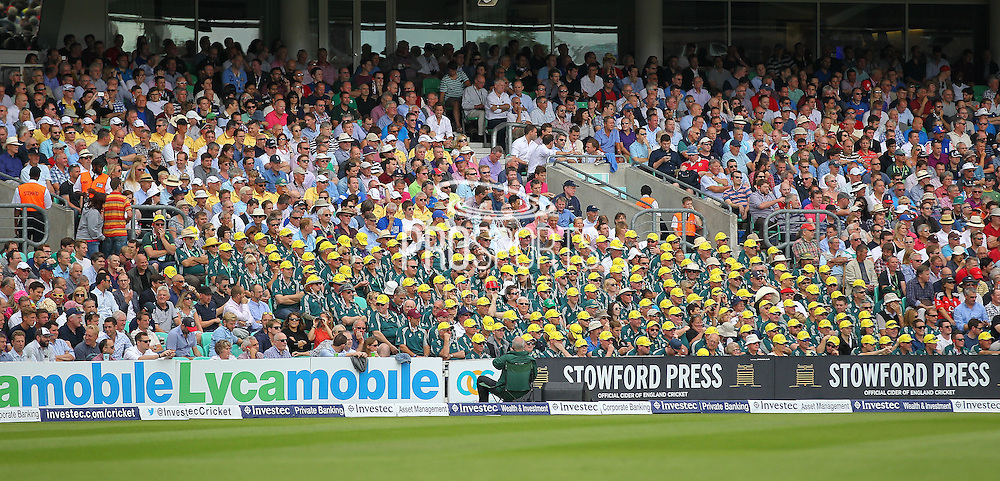 Aussie fans during the 1st day of the 5th Investec Ashes Test match between England and Australia at The Oval, London, United Kingdom on 20 August 2015. Photo by Phil Duncan.
