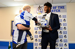 Ellis Harrison of Bristol Rovers with Matchball Sponsor - Mandatory by-line: Dougie Allward/JMP - 23/12/2017 - FOOTBALL - Memorial Stadium - Bristol, England - Bristol Rovers v Doncaster Rovers - Skt Bet League One