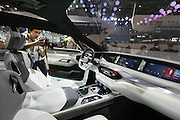 BEIJING, CHINA - APRIL 25: (CHINA OUT) <br /> <br /> A Baic Motor new energy concept vehicle is on display at the Beijing International Automotive Exhibition on April 25, 2016 in Beijing, China. <br /> ©Exclusivepix Media