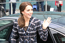 © Licensed to London News Pictures . 14/10/2016 . Manchester , UK . The Duke and Duchess of Cambridge arrive to visit the National Football Museum in Manchester . Photo credit : Joel Goodman/LNP