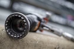 May 18, 2018 - Indianapolis, Indiana, United States of America - An air gun waits for use during ''Fast Friday'' practice for  the Indianapolis 500 at the Indianapolis Motor Speedway in Indianapolis, Indiana. (Credit Image: © Chris Owens Asp Inc/ASP via ZUMA Wire)