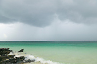 Storm over emerald green water of the Andaman Sea Southern Thailand&amp;#xA;<br />