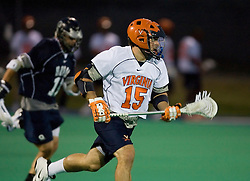 Virginia Cavaliers M/A Garett Ince (15)..The Virginia Cavaliers men's lacrosse team faced the Georgetown Hoyas in a Fall Ball Scrimmage held at the University Hall Turf Field in Charlottesville, VA on October 12, 2007.