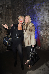 Left to right, AMANDA ELIASCH and ALICE WILSON at the launch of 2 collections by jeweller Stephen Webster - ÔThe 7 Deadly SinsÕ and ÔNo RegretsÕ held at The Old Vics Tunnels, Under Waterloo Station, Off Leake Street, London SE1 on 8th December 2010.<br /> Left to right, AMANDA ELIASCH and ALICE WILSON at the launch of 2 collections by jeweller Stephen Webster - 'The 7 Deadly Sins' and 'No Regrets' held at The Old Vics Tunnels, Under Waterloo Station, Off Leake Street, London SE1 on 8th December 2010.