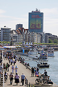 Every Year in June, almost a million people celebrates Japan Day in Düsseldorf, together with the city's Japanese expatriat community which is the biggest in Germany. Visitors strolling along the river Rhine