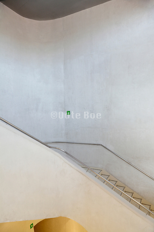 stairwell inside CaixaForum Madrid Architects Herzog and de Meuron
