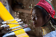 Myanmar. Woman from the Padaung tribe.