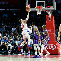 12 October 2017: LA Clippers forward Blake Griffin (32) goes for the layup during the LA Clippers 104-87 victory over the Sacramento Kings, at the Staples Center, Los Angeles, California, USA.