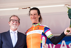 Natalie van Gogh (NED) returns to the orange jersey at Healthy Ageing Tour 2018 - Stage 4, a 143 km road race starting and finishing in Winsum on April 7, 2018. Photo by Sean Robinson/Velofocus.com
