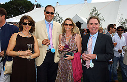 Left to right, he HON.HARRY & MRS HERBERT and LORD & LADY LLOYD-WEBBER at the Cartier International polo at Guards Polo Club, Windsor Great Park, on 30th July 2006.<br /><br />NON EXCLUSIVE - WORLD RIGHTS