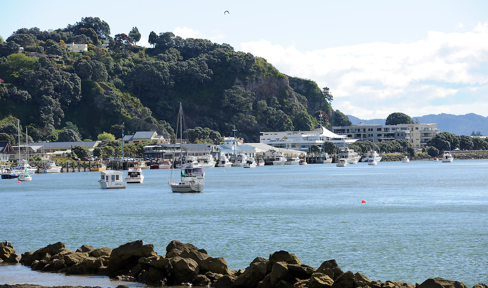 River mouth, waterfront and township, Whakatane, New Zealand, Wednesday, November 16, 2011. Credit:SNPA / Ross Setford