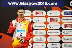 WANG Yinan CHN at 2015 IPC Swimming World Championships -  Men's 100m Freestyle S8