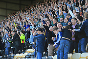 Notts County fans celebrate Notts County Ryan Yates(22) goal during the EFL Sky Bet League 2 match between Notts County and Barnet at Meadow Lane, Nottingham, England on 14 October 2017. Photo by Mick Haynes.