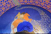 Wandgemälde im Hochzeitsturm, Mathildenhöhe, Jugendstil, Darmstadt, Hessen, Deutschland | wall painting in Hochzeitsturm, Centre of Art Noveau on Mathildenhoehe, Darmstadt, Germany
