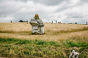"Valley of Saints is a French association with a project of monumental statuary established in Brittany. The idea behind this project is to achieve an  ""Easter Island Breton of the Third Millennium"", a place of spirituality honoring the Breton collective memory, which is designed to accommodate large granite statues (of about three meters height) with the effigy of 1000 Breton saints (which are represented with a face and their attributes). More than a hundred have already been built. Each statue or saint is made through the sponsorship of a company or individual. The total cost of a sculpture in 2012 is € 12,000."