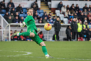 Hartlepool United goalkeeper Trevor Carson in action during the Sky Bet League 2 match between Hartlepool United and Wycombe Wanderers at Victoria Park, Hartlepool, England on 16 January 2016. Photo by George Ledger.
