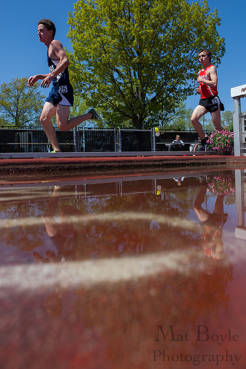 Men's 5000 meters at the NJAC Track and Field Championships at Richard Wacker Stadium on the campus of  Rowan University  in Glassboro, NJ on Sunday May 5, 2013. (photo / Mat Boyle)