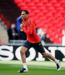 27.05.2011, Wembley Stadium, London, ENG, UEFA Champions League Final, FC Barcelona vs Manchester United, Training Manchester United, im Bild .Rio Ferdinand of Manchester Utd  leads  of Manchester Utd  at the training at The Wembley  Stadium for the Champions League Final between Barcelona and Manchester United at the Wembley Stadium  in London    on 27/05/2011. EXPA Pictures © 2011, PhotoCredit: EXPA/ IPS/ Marcello Pozzetti +++++ ATTENTION - OUT OF ENGLAND/UK and FRANCE/FR +++++