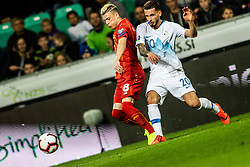 Egzijan Alioski of Macedonia vs Petar Stojanović of Slovenia during football match between National teams of Slovenia and North Macedonia in Group G of UEFA Euro 2020 qualifications, on March 24, 2019 in SRC Stozice, Ljubljana, Slovenia.  Photo by Matic Ritonja / Sportida