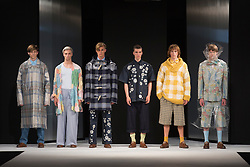 """© Licensed to London News Pictures. 02/06/2015. London, UK. Collection by Holly Cooney, UCA Epsom. Runway show """"Best of Graduate Fashion Week 2015"""". Graduate Fashion Week takes place from 30 May to 2 June 2015 at the Old Truman Brewery, Brick Lane. Photo credit : Bettina Strenske/LNP"""