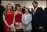 VICTORIA COREN; KATHY LETTE; SANDI TOKSVIG; DAVID MITCHELL, Sandi  and Debbie Toksvig,  renewing their civil partnership vows at the Royal Festival Hall. London. 29 March 2014.