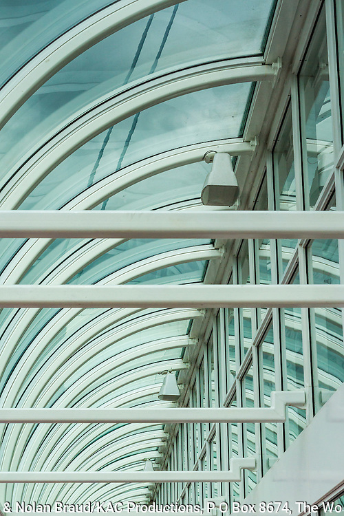 Artistic patterns, colors and designs at Canada Place, Vancouver's Cruise Ship Terminal in downtown Vancouver, British Columbia, Canada.