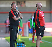 Crawley Town Manager Mark Yates watches from the touchline during the Sky Bet League 2 match between Crawley Town and Accrington Stanley at the Checkatrade.com Stadium, Crawley, England on 26 September 2015. Photo by Bennett Dean.