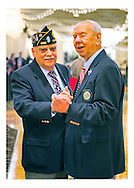Merrick Post 1282 Commander Edward R. Sholander, and Post 1282 Past Commander Robert Wieboldt joking around during American Legion's Fifth Annual Military Ball/Post Commanders Night at the Stuart Thomas Manor, Farmingdale, New York, USA, on Saturday, February 18, 2012.