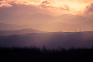 A picture of the the foothills and mountains in Colorado during a dramatic sunset.<br />