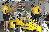 DURBAN, South Africa, In the pits of Team Malaysia (10th 1:19.658) during the Friday practice sessions held as part of the A1GP race weekend in Durban, South Africa on Friday 22 February 2008. Photo: SportsPics/SPORTZPICS