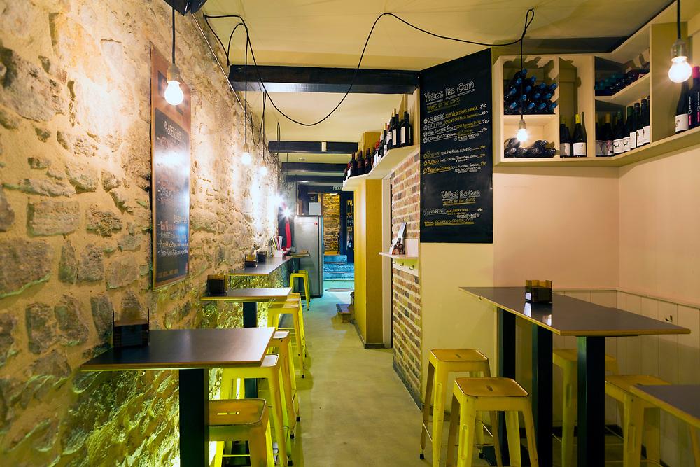 SANTIAGO DE COMPOSTELA, SPAIN - 10th October 2017 - Tapas bar in Santiago de Compostela, Galicia, Spain.