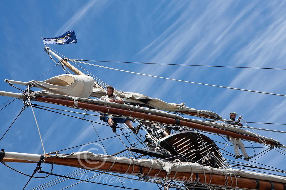 Preparing to sail.
