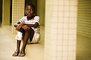 A young orphan boy who lives with the nuns at the NDA health center in Dimbokro, Cote d'Ivoire on Friday June 19, 2009.