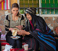 Queen Rania Lunches At Wadi Shueib