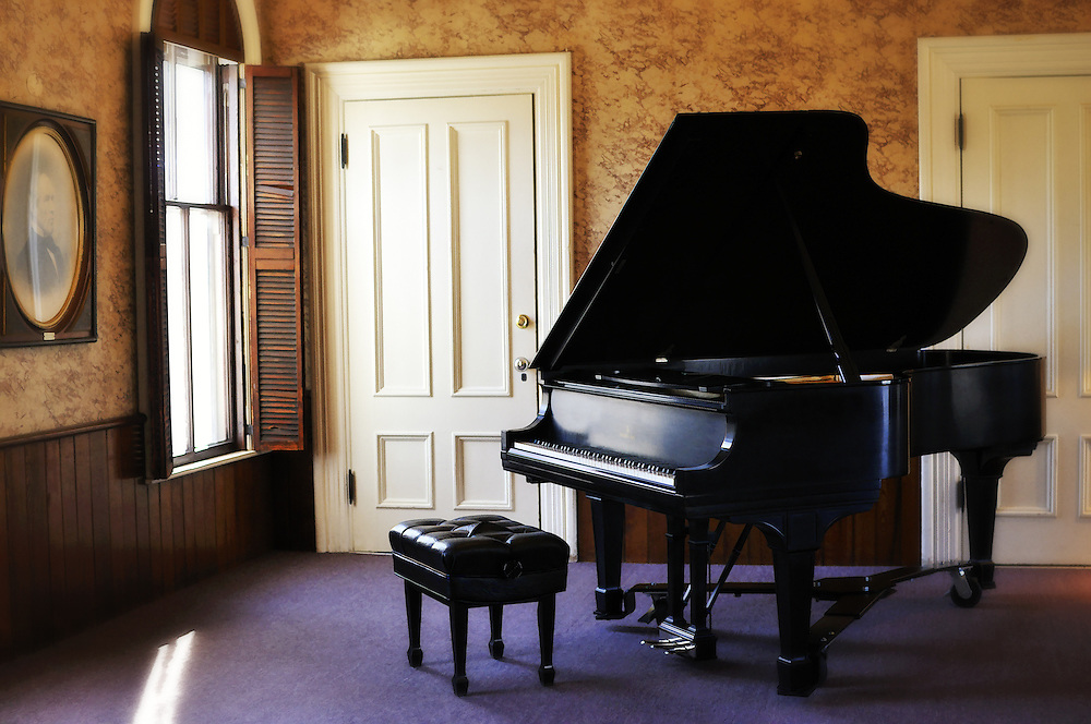 The Piano upstairs at the James Library in Norwell, Massachusetts.