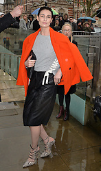 Erin O'Connor arriving at the Topshop Unique catwalk show A/W 2015, at The Topshop Show Space, Tate Britain in London, England during London Fashion Week. 22nd February 2015. Photo by James Warren/Photoshot. EXPA Pictures © 2015, PhotoCredit: EXPA/ Photoshot/ James Warren<br /> <br /> *****ATTENTION - for AUT, SLO, CRO, SRB, BIH, MAZ only*****