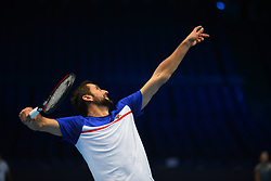 November 10, 2017 - London, England, United Kingdom - Marin Cilic of Croatia is pictured during a training session prior to the Nitto ATP World Tour Finals at O2 Arena, London on November 10, 2017. (Credit Image: © Alberto Pezzali/NurPhoto via ZUMA Press)