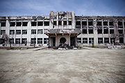Kadonowaki elementary school kept burning for 72 hours due to  fuel from the  destroyed cars and propane gas after the earthquake and the tsunami  in Ishinomaki city.