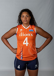 10-05-2018 NED: Team shoot Dutch volleyball team women, Arnhem<br /> Celeste Plak #4 of Netherlands