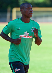01.07.2015, Weserstadion, Bremen, GER, 1. FBL, SV Werder Bremen, Trainingsauftakt, im Bild Anthony Ujah (SV Werder Bremen #21) beim Laktattest // during a Trainingssession of German Bundesliga Club SV Werder Bremen at the Weserstadion in Bremen, Germany on 2015/07/01. EXPA Pictures &copy; 2015, PhotoCredit: EXPA/ Andreas Gumz<br /> <br /> *****ATTENTION - OUT of GER*****
